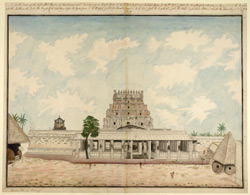 South view of the Temple of Avutaiyar Kovil, near Tanjore